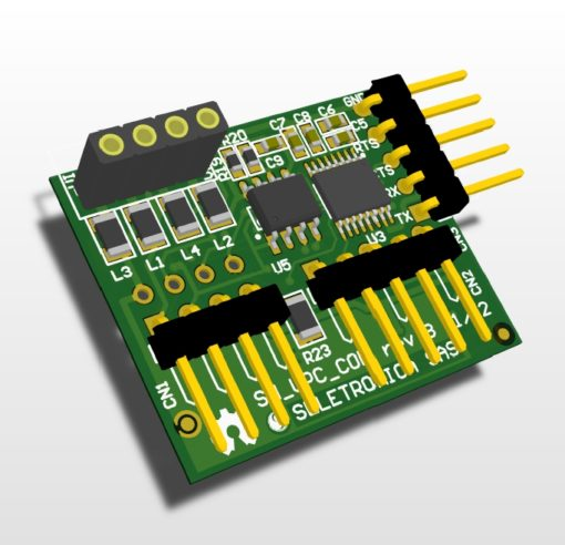 SnipCard RS232 - 3D view
