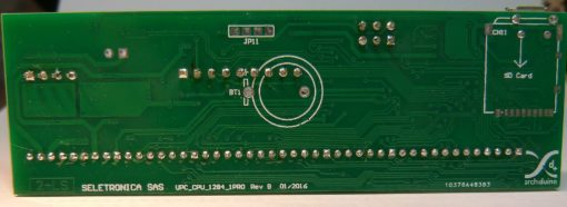 Archiduino CPU ATMega1284 - back