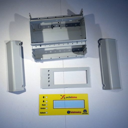 Archiduino Box DIN 6 modules with LCD panel - parts