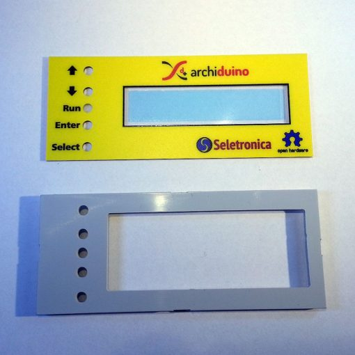 KIT ABS frame + cover panel for Archiduino LCD board